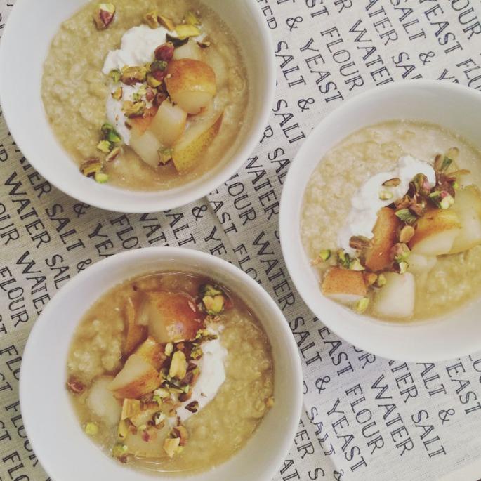 winter spiced porridge
