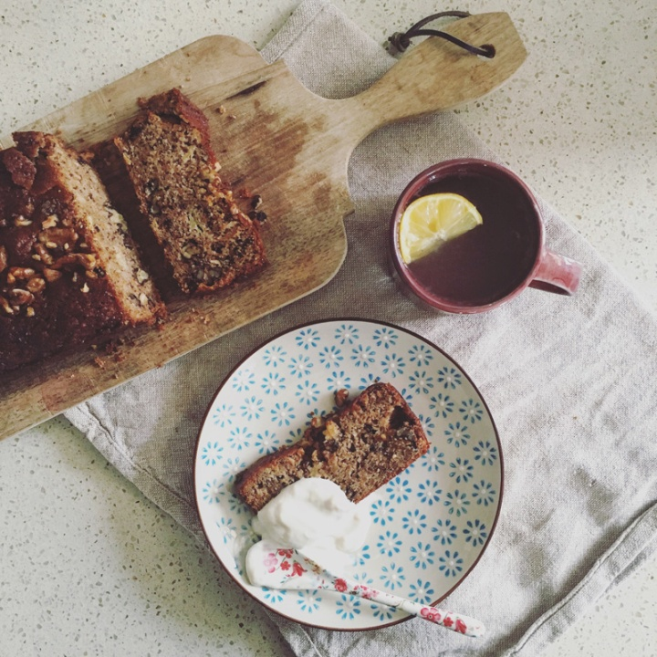 Carrot banana and walnut loaf