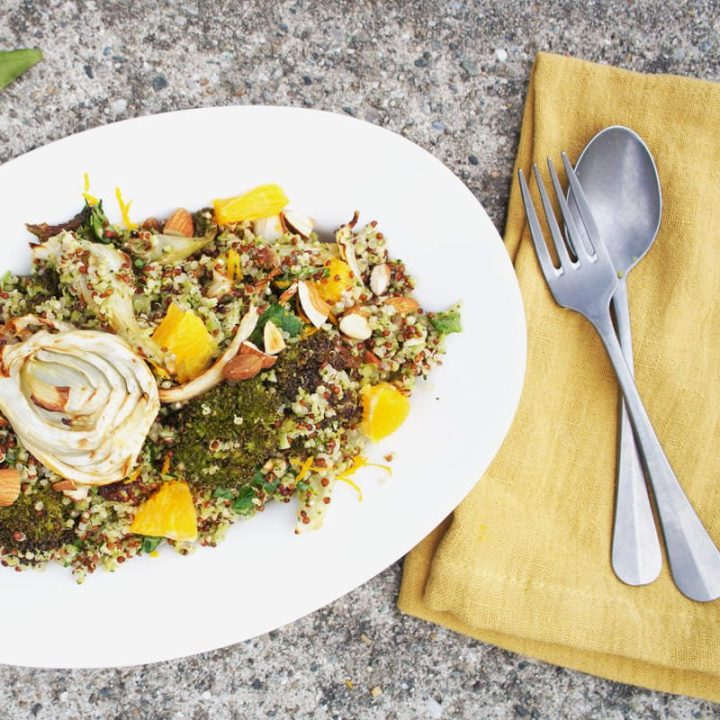 HH RECIPE – broccoli rice, fennel & orange salad