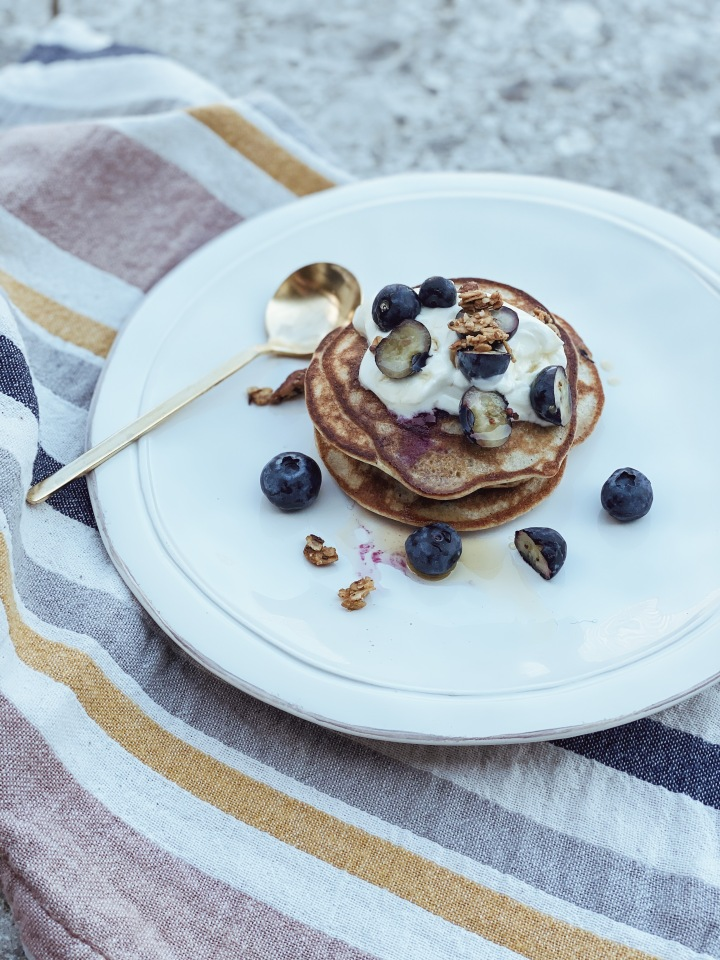 Banana & Blueberry Pancakes